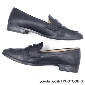 Cole Haan black leather Pinch Grand penny loafers